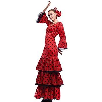 Disfraz Flamenca Mujer (Talla S) (+ Tallas) Carnaval Mundo: Amazon ...