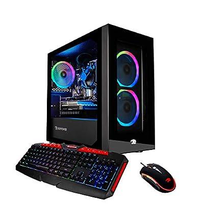 iBUYPOWER Pro Gaming PC Computer Desktop FHW002 (Intel i3 9100F 3.6GHz, NVIDIA GT 710 1GB, 8GB DDR4 RAM, 120GB SSD, 1TB HDD, WiFi Ready, Windows 10 Home)