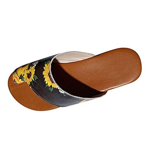 EEUK Women Comfy Sandals Fashion,Casual Summer Beach Sandals Open Toe Roman Shoes,Beach Party Dress Summer Flip Flop Slippers