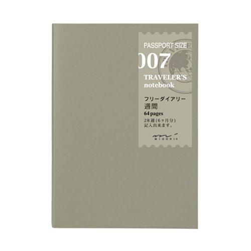 トラベラーズノート 手帳 リフィル ウィークリー 週間フリー パスポートサイズ 14327006
