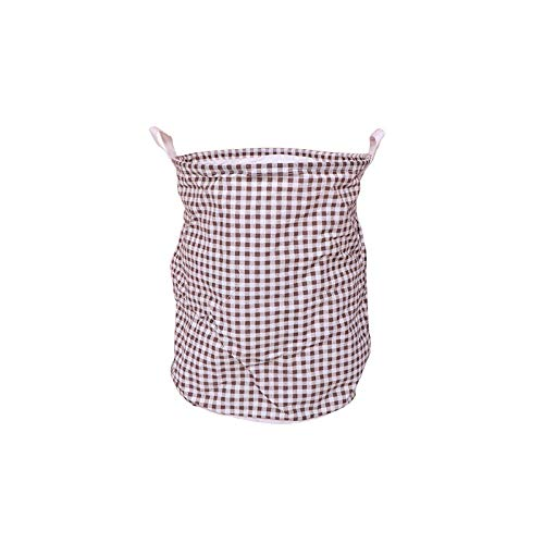 ZZXGG Dirty Clothes Basket Double-Layer Lining Linen Foldable Storage Bucket