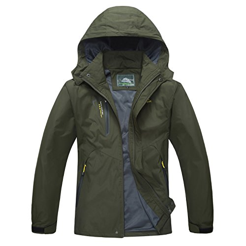 MAGCOMSEN Windbreaker Jacket Men Camping Jacket Climbing Jacket Hiking Jacket Men Raincoat for Men Spring Jackets Fall Jacket Army Green