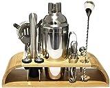 Hammer Cocktail Shaker Set Kit de camarero, de 11 piezas Juego de Bar, cuchara de mezcla, doble aparejo, licor vertedores, Muddler, colador y pinzas for hielo, Bar Profesional ciencia de la mezcla Set