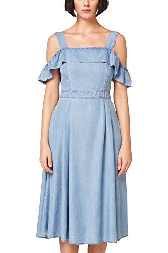 edc by ESPRIT Damen 058CC1E045 Kleid, Blau (Blue Medium Wash 902), Small