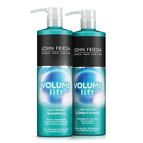 John Frieda Volume Shampoo and Conditioner for Fine Hair, 2 x 500 ml, Packaging May Vary