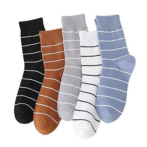 Abaodam 5 pares de calcetines de invierno de algodón transpirable calcetines deportivos de malla al aire libre para hombres