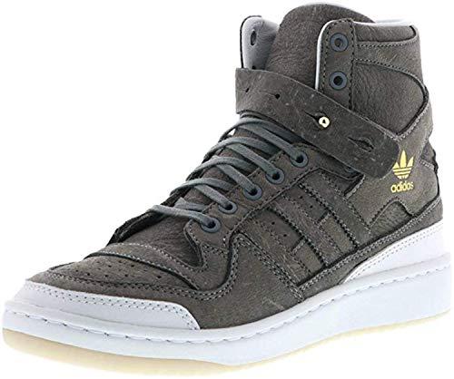 adidas - Forum HI Crafted BW1253 - Herren Schuhe Sneaker - Grey-White, Größe:10 UK