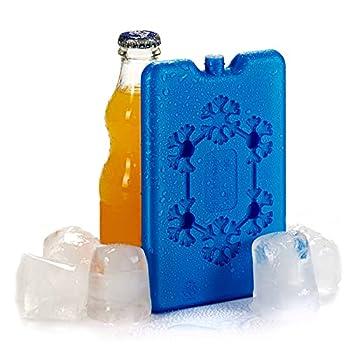 Lot de 4 accumulateurs réfrigérants en plastique pour aliments et boissons 200 ml