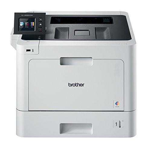 Brother HL-L8360CDW Professioneller WLAN Farblaserdrucker mit NFC (31 Seiten/Min., Duplex, 2.400 x 600 dpi) weiß/schwarz