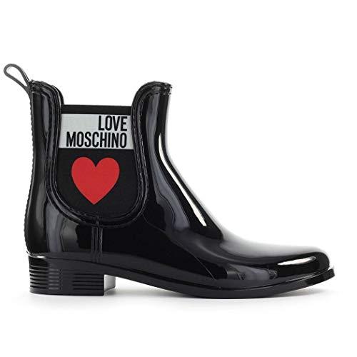 Luxury Fashion | Love Moschino Dames JA21013G1AIS0000 Zwart Lak Enkellaarzen | Lente-zomer 20