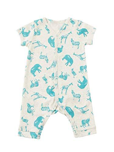Ocean&Ground(オーシャン&グラウンド) ベビー服 赤ちゃん 半袖 ロンパース ベビー 男の子 女の子 前開き 70㎝ アニマル