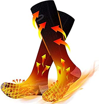 Anwick Heated Socks for Men/Women Rechargeable Washable Upgraded Electric Thermal Winter Socks 3 Heating Settings 4300mAh for Hunting Skiing Outdoors Camping Foot Warmers