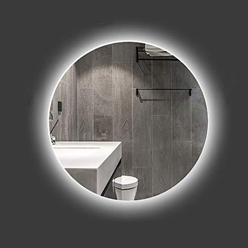 Moderne verlichte badkamerspiegel met LED-verlichting met schakelaar wandspiegel voor make-up scheren en dressing (wit licht, warm licht)