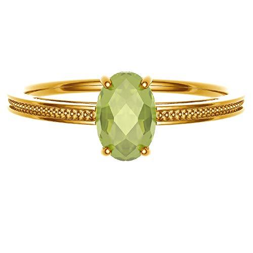 [ココカル]cococaru ペリドット リング K18 イエローゴールド 指輪 25号 重ね付け 天然石 誕生石 カラーストーン 日本製