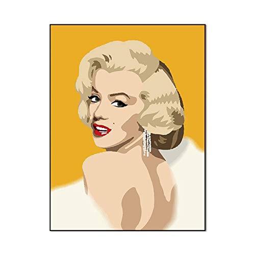 Wall art portret Posters en prints Marilyn Monroe Abstract canvas schilderij Decoratieve foto's voor de woonkamer, aWP0437,30X40cmX1PC geen frame