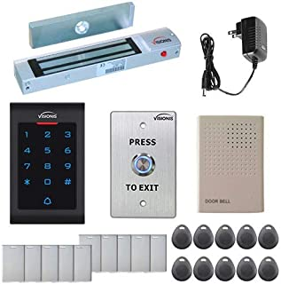 Visionis FPC-5322 One Door Access Control Outswinging Door 300lbs Maglock with VIS-3002 Indoor Use Only Keypad/Reader Standalone no Software EM Card Compatible 2000 Users Kit