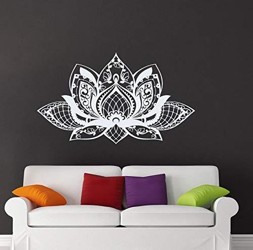 Un montón de flores flor estudio de yoga vinilo pegatinas de pared sala de estar decoración del dormitorio mural de la etiqueta del hogar