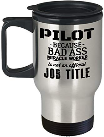 Queen54ferna Pilot Travel Mug - Taza de viaje para hombre y mujer,...
