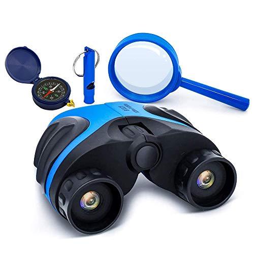 X-LIVE Fernglas für Kinder - Mit starker Vergrößerung 8 X 21, Kids Adventurer Explorer Set, mit Lupe, Pfeife & Kompass – Zum Beobachten von Tieren und Landschaften