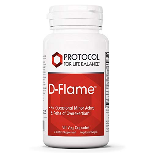 Protocol For Life Balance - D-Flame - Promotes Joint Health, Supports Occasional Minor Aches and Pains from Overexertion or Stress, Supports Cardiovascular Function - 90 Veg Capsules