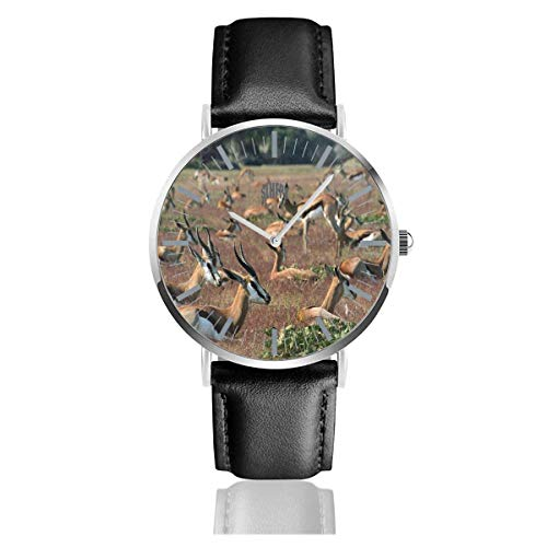 Reloj para Mujer Manada Gacelas Animales Relojes de Pulsera de Cuarzo de...