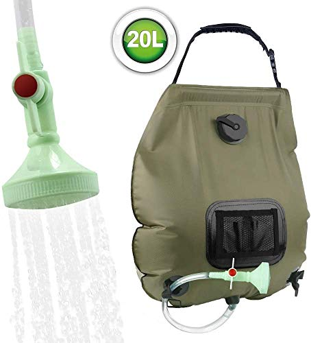 Find Discount Camping Solar Shower 20L Shower Bag Solar Heating Camping Shower Bag with Shower Head ...