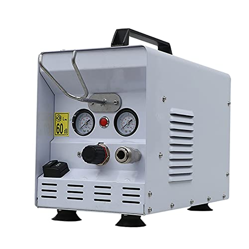WUK Compresor de Aire pequeño portátil Sin Aceite Silencioso 600W Caja Desmontable Tipo 2L Compresor de Aire Hogar Carpintería Pintura en Aerosol Neumático Bomba de llenado de Aire 220V