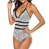 Adorise - Falda adelgazante para baño con rayas curvadas y espirales, ideal para viajes a Hawaii - Multi color - X-Large