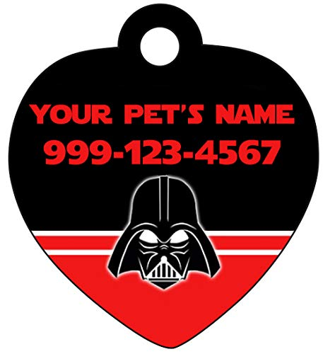 uDesignUSA Disney Star Wars Darth Vader Mask Pet Id Tag for Dogs & Cats Personalized w/Name & Number