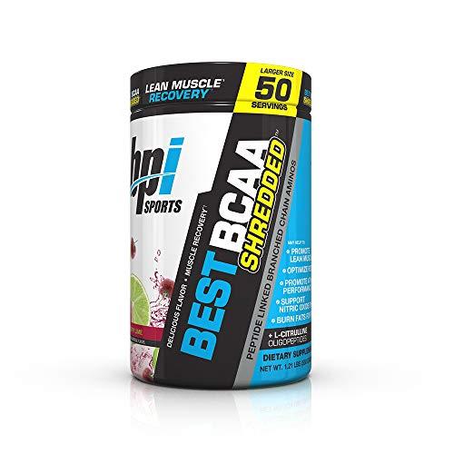 BPI Sports Best BCAA Shredded Powder for Men & Women, Cherry Lime, 50...