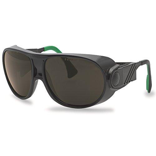 uvex Futura 9180 - Gafas de protección para soldador, color negro y verde, lente gris, protección de soldador: 4