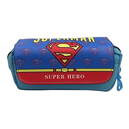 Nuevo 2018 Lienzo Bolsas De Lápiz De Cuero Marvel Hero Capitán América Batman Superman Wonder Spiderman Mujer Estuches De Cosméticos C