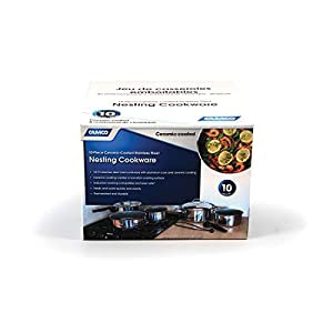 Camco Ceramic-Coated Stackable Cookware — Excellent for RVs and Compact Kitchens