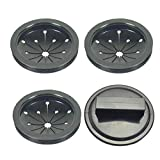 JJDD Garbage Disposal Splash Guard with sink stopper kit 3-1/8 inch Food Waste Disposer Accessories Rubber Garbage Disposal Splash Guard for Insinkerator, Waste King and Whirlaway Models- 4pcs (3+1)