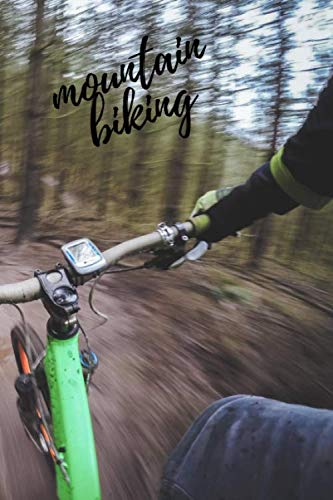 Mountain biking Doted Notebook Drawing Pad: Doted Ruled Pages Book (6 x 9 inches A5) 100 Pages Journal Planning Drawing Sketching Writing Doodling: The Slower You Go The More Likely It Is You'll Crash