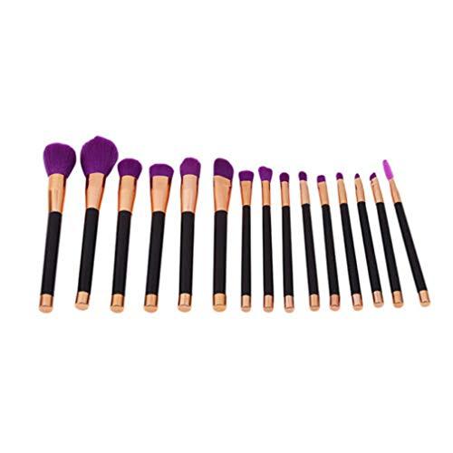 LIXIAQ1 15 PCS Maquillage Brush Set Foundation Face Poudre Blush Fard À Paupières Brosses Maquillage Brush Kit