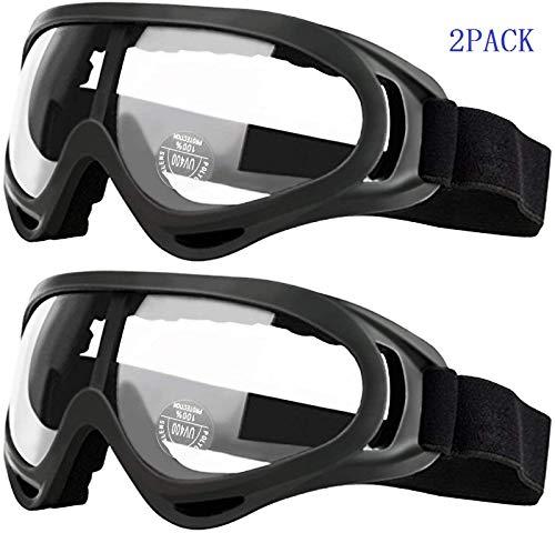 安全ゴーグル 保護メガネ 子供用 アイウェアメガネ 耐風性 耐衝撃性 花粉症预防 スーノーボード用ゴーグル サバイバルゲーム用メガネ2PACK入り