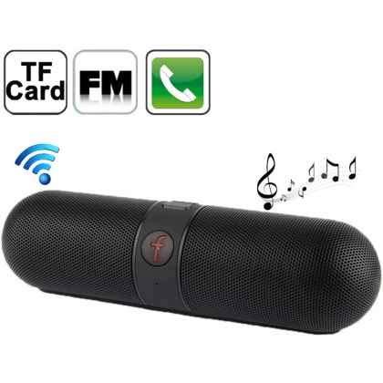 Sin marca Altavoz PORTATIL Bluetooth F-Pill FM USB TF Negro