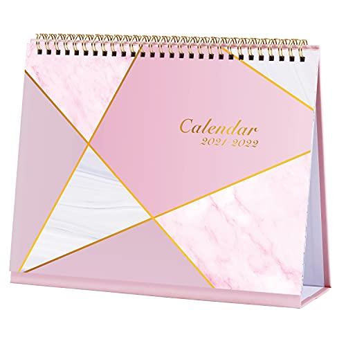Calendario de escritorio 2021 2022, calendario de 18 meses, julio de 2021-diciembre de 2022 Calendario de escritorio con lista de tareas pendientes, 25,3 x 20,5 x 7,8 cm