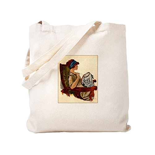 CafePress–Trampa con bordado aro–Gamuza de bolsa de lona bolsa, bolsa de la compra Small caqui