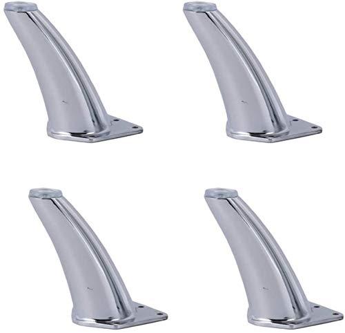 Ruedas para muebles Sofá Pies de aleación de zinc, tipo grueso, para silla de gabinete Pies de mesa de mesa con tornillos de montaje Patas de mesa de metal de plata, conjunto de componentes de muebles
