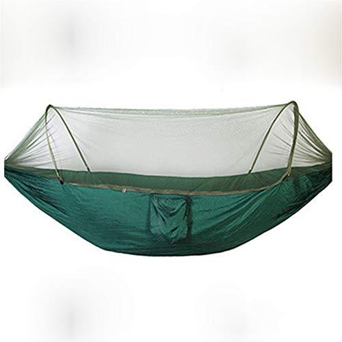 Bigsweety Déplier Automatique Ultra Léger Parachute Hamac Chasse Moustiquaire Camping en Plein Air Hamac (Vert)