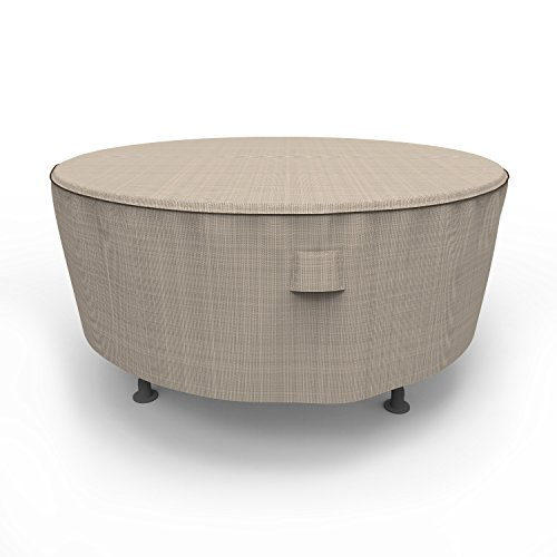 Budge English Garden Patio Table Coque P5 a23pm1, Tan en Tweed (60 Diamètre X 28 Drop)