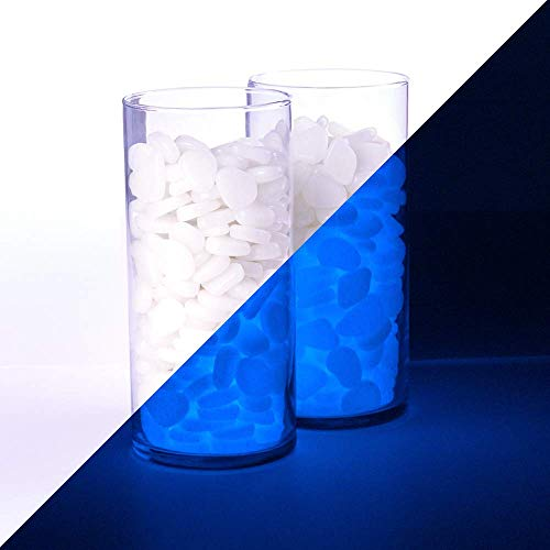 Graham Products 450pcs - Glow in The Dark Rocks - White (Glows Blue) - Fish...