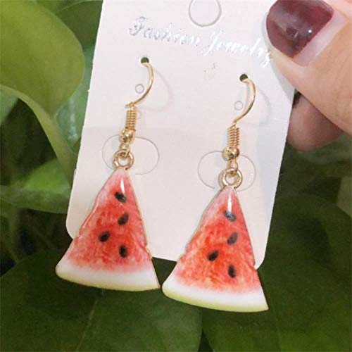 DAN Resin stereo lemon orange earrings long pendant fashion summer fruit jewelry for girls and teenagers gifts wholesale,9