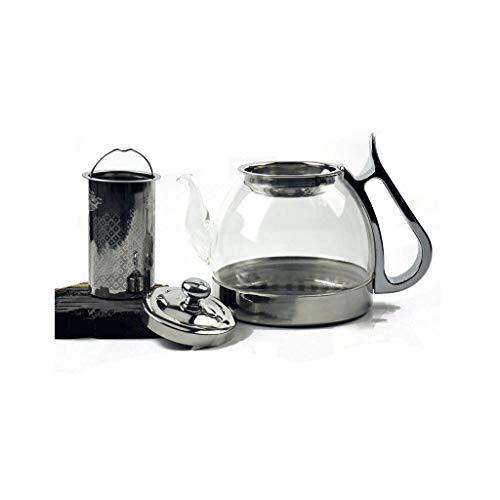 Theepot Set, 4 kopjes, Koude Ketel, Dikke Borosilicaat Glas, Hoge Temperatuurbestendigheid, Gasfornuis, Inductie Kookplaat Verwarming JXLBB 800ML