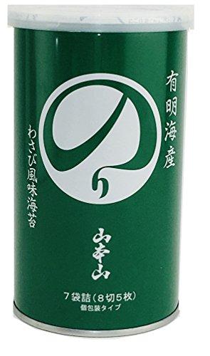 山本山 わさび風味海苔(缶入り)8切 35枚