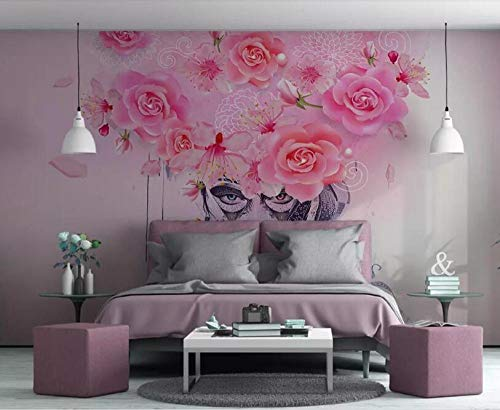 ZAMLE Custom large 3d wallpaper Modern Graffiti floral colorful sexy beauty oil painting background wall wallpaper 3d tapeta, 200x140 cm (78.7 by 55.1 in)