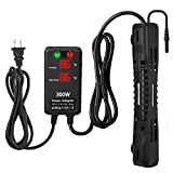 SZELAM Submersible Aquarium Heater,300W Fish Turtle Tank Heater with Intelligent Temperature Probe and 2 Suction Cups,Suitable for Marine Saltwater and Freshwater