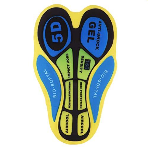 Intimo Ciclismo Uomo 3D Gel imbottito Pantaloni Mutande da Bicicletta Sport Accessori - 20D Amarillo Azul, tal como se describe